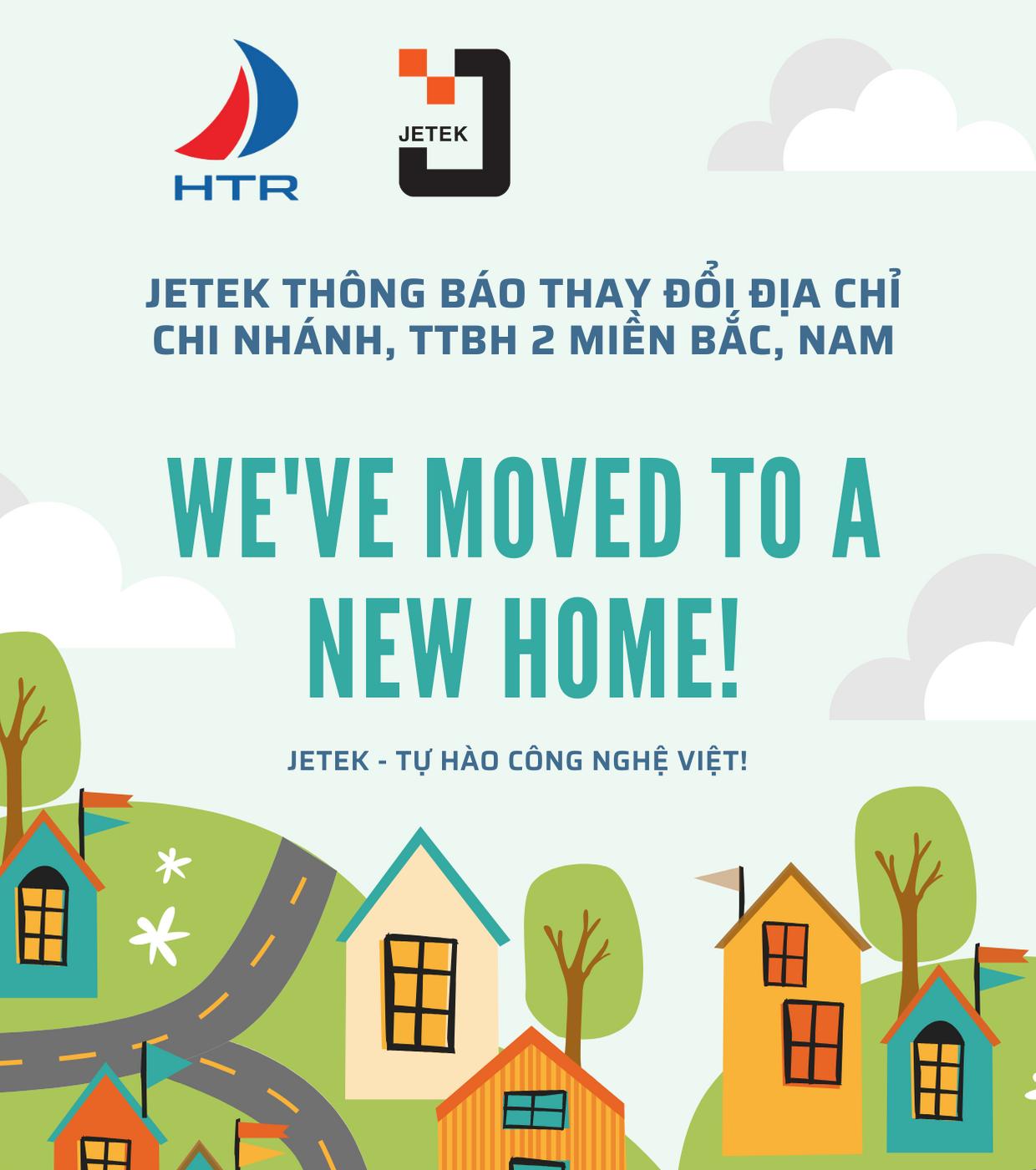 Jetek thay đổi địa chỉ chi nhánh, TTBH 2 miền Bắc, Nam